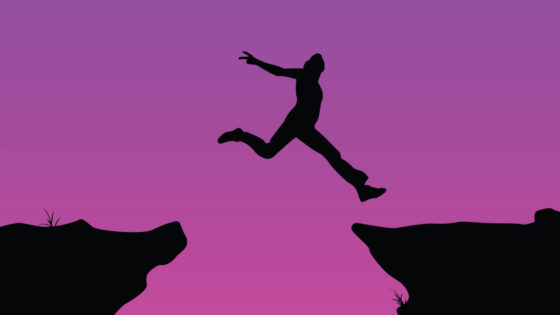 take the leap, leaping, jump off